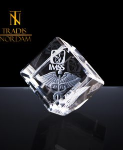 cubo cristal 6 cm desvaste