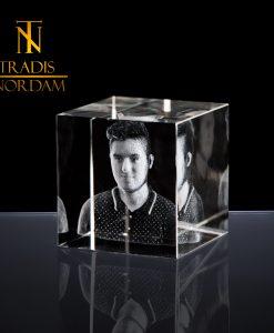 reconocimiento cubo de cristal 3d personalizado 5x5 Tradis Nordam